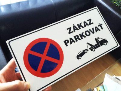 Zákaz parkovať