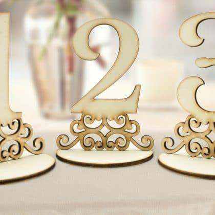 Čísla na svadobné stoly