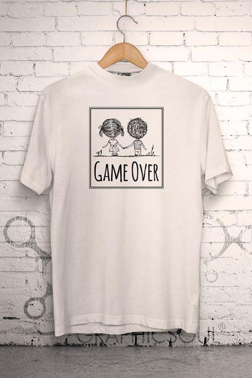 Tricko na svadbu Game Over