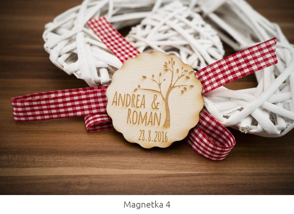 magnetka z dreva
