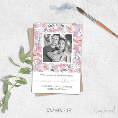 svadobne oznamenia s fotkou