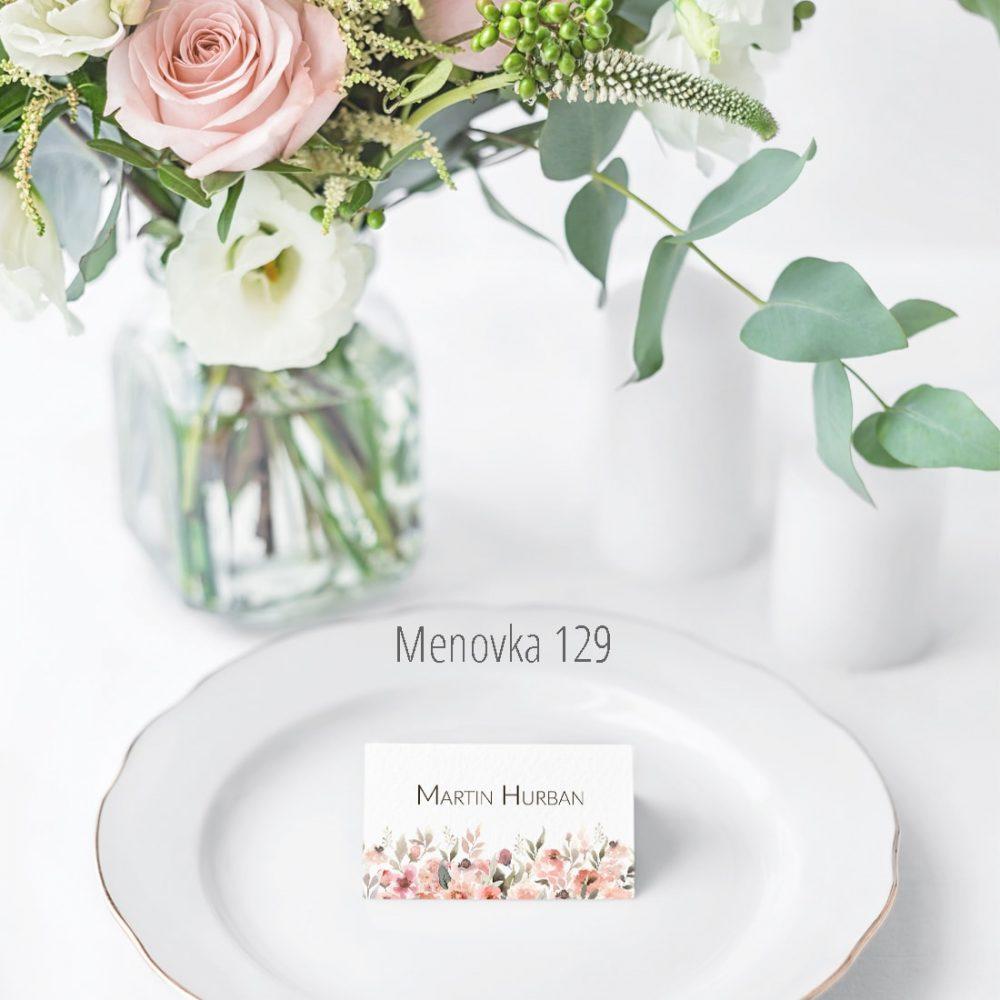 Menovka na stôl 129
