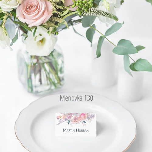 Menovka na stôl 130