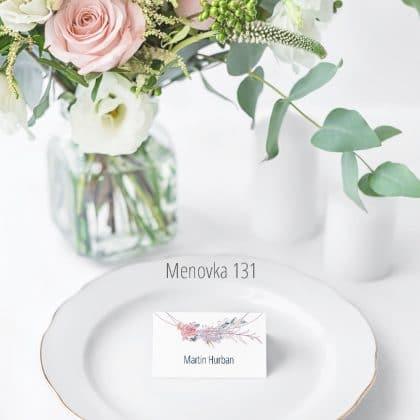 Menovka na stôl 131