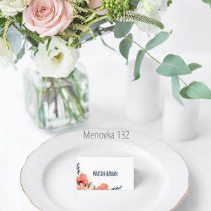 Menovka na stôl 132