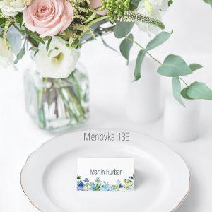 Menovka na stôl 133