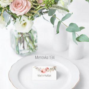 Menovka na stôl 134