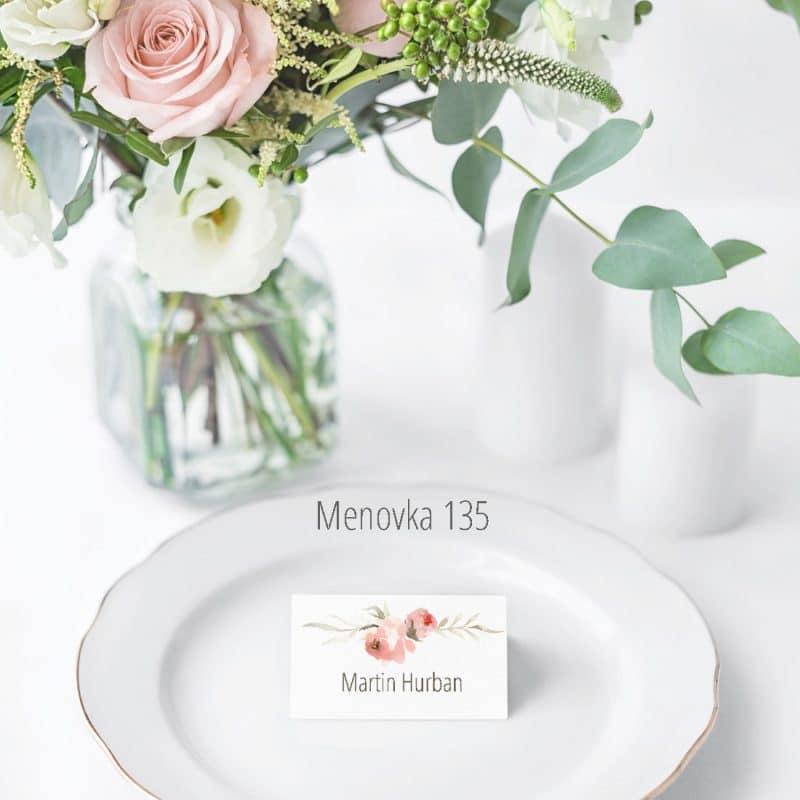 Menovka na stôl 135