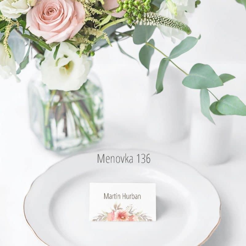 Menovka na stôl 136