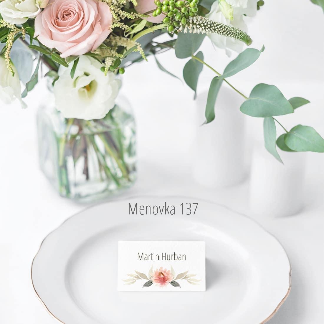 Menovka na stôl 137