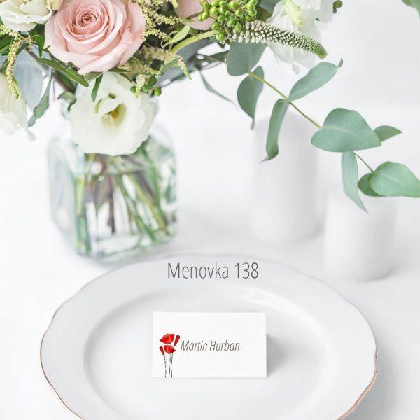 Menovka na stôl 138