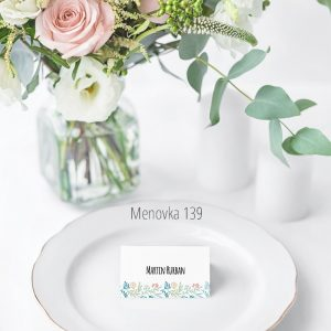 Menovka na stôl 139