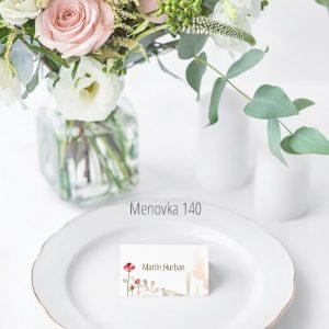 Menovka na stôl 140
