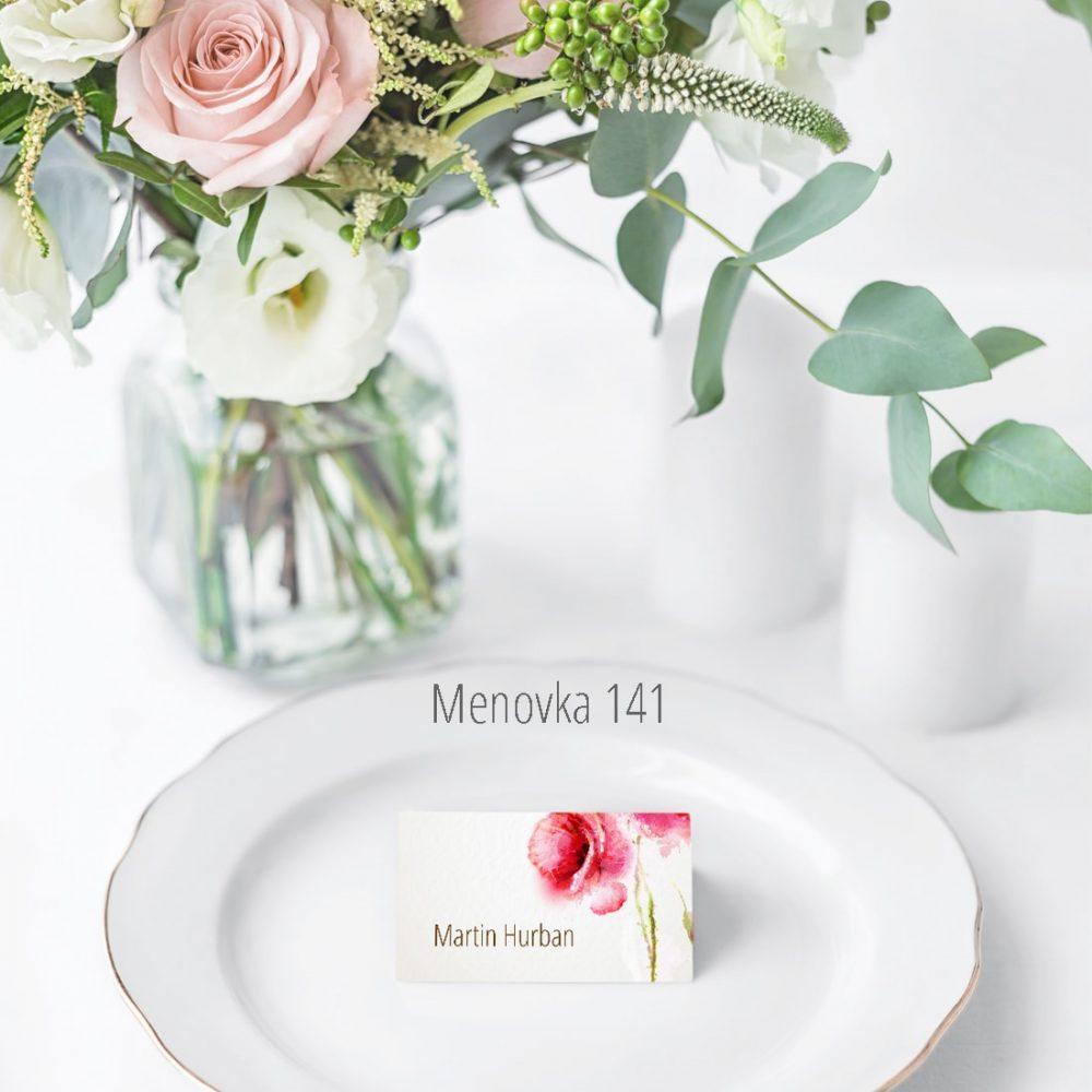 Menovka na stôl 141