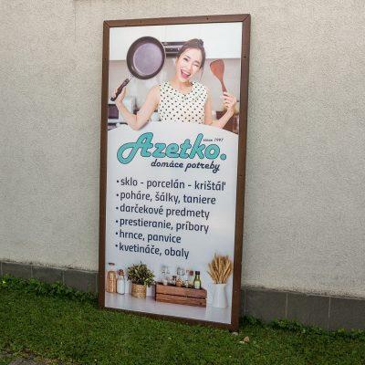 reklamna tabula Azetko