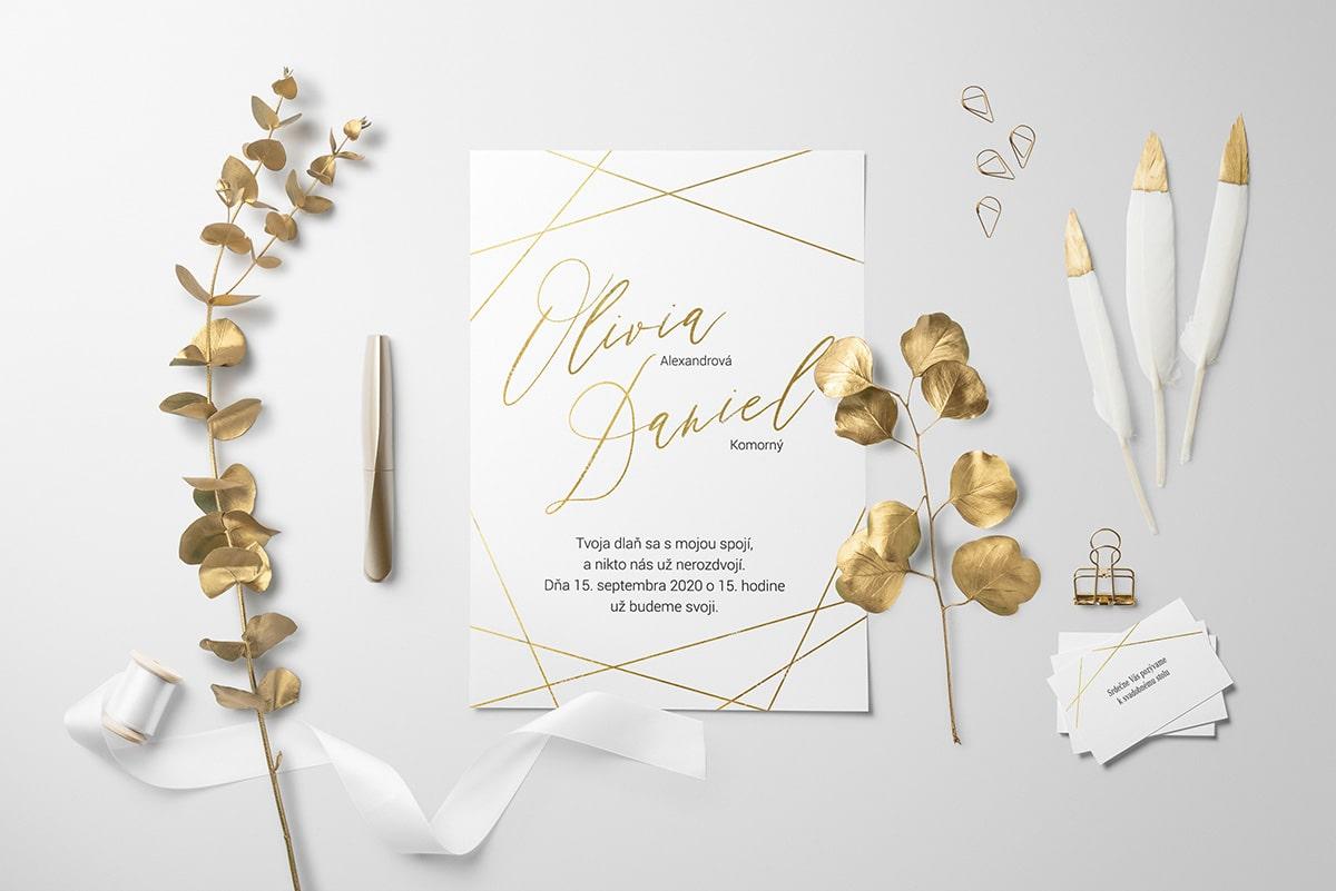 Zlaté svadobné oznámenia
