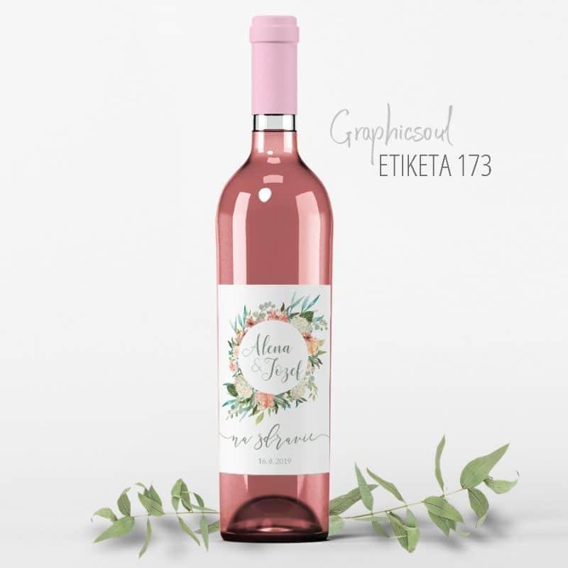 etiketa na svadobné víno 143