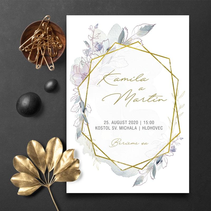 svadobne oznamenie zlate