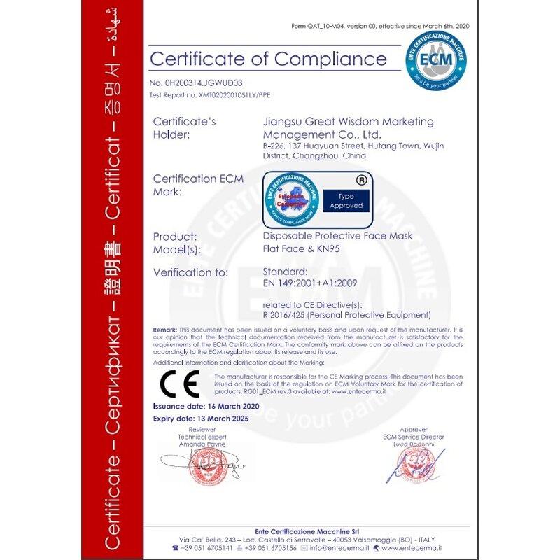 respirator s certifikatom